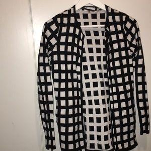 Calvin Klein Black and white checkered top